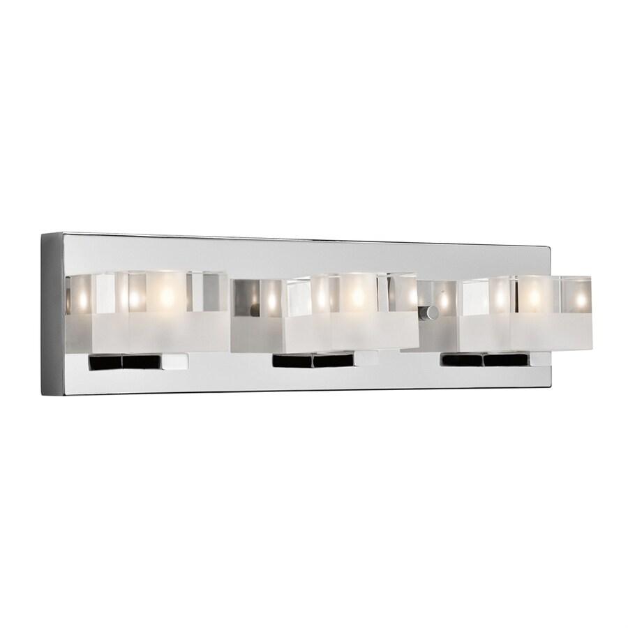 Elan Considine 3-Light 4.75-in Chrome Square Vanity Light