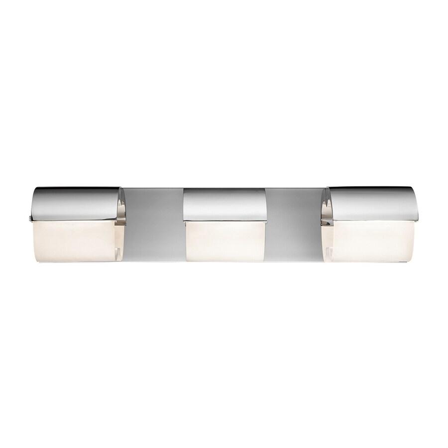 Elan Olo 3-Light 4.75-in Chrome Geometric Integrated LED Vanity Light