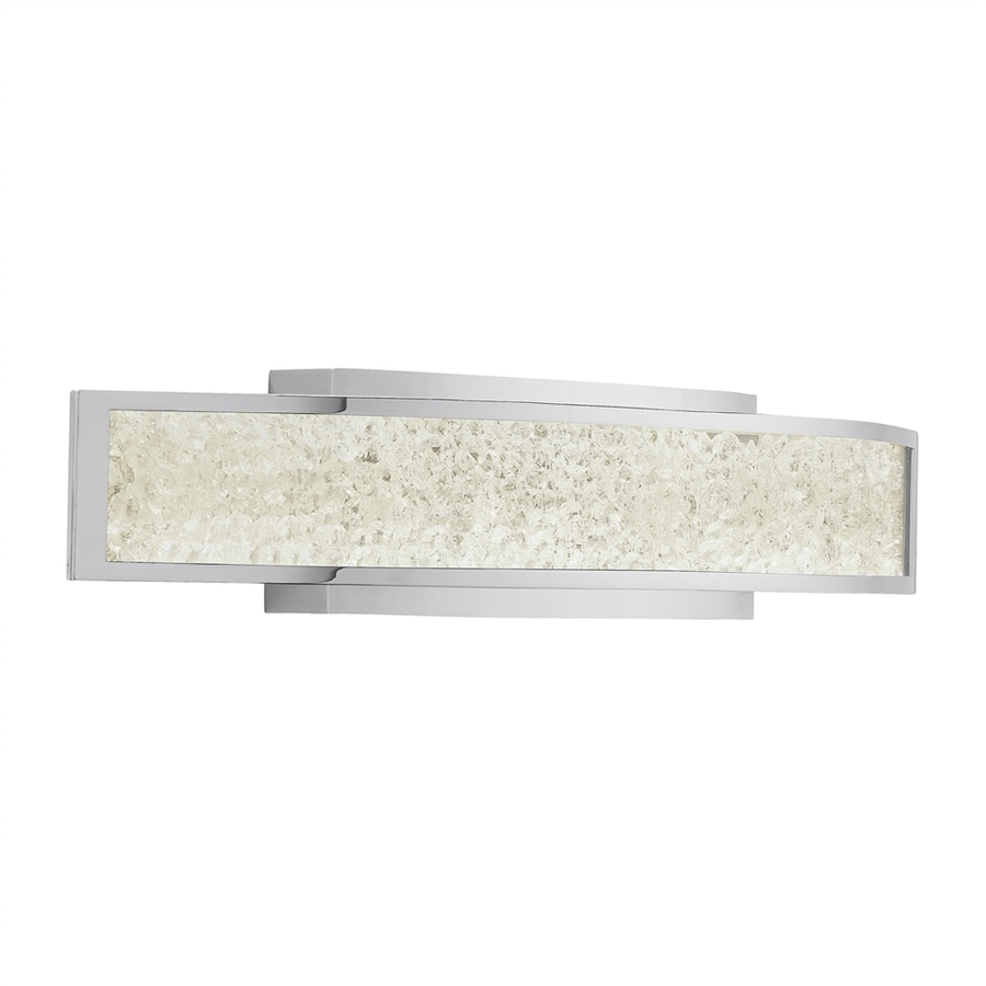 Vanity Light Bar With Cord : Shop Elan Crushed Ice 1-Light 4.75-in Chrome Rectangle LED Vanity Light Bar at Lowes.com