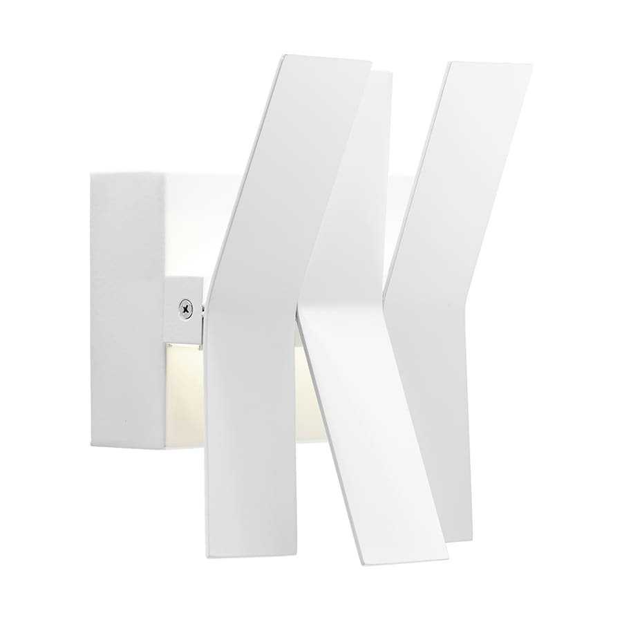 Elan Zaden 3-Light 8.25-in Matte White Geometric Integrated LED Vanity Light