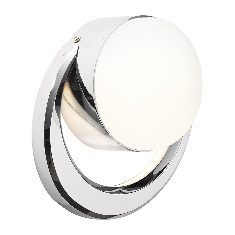 Elan Novella 1-Light 8.75-in Chrome Geometric LED Vanity Light