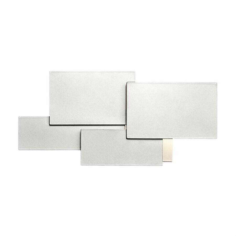 Elan Kinslee 1-Light 13-in Platinum Rectangle Vanity Light