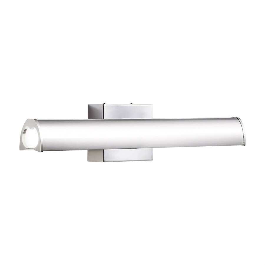 Elan Krizia 1-Light 5-in Chrome Cylinder LED Vanity Light Bar