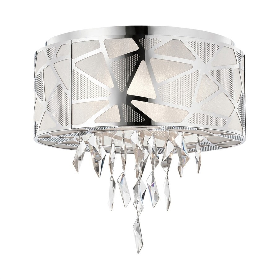 Elan Angelique 19.75-in W Chrome Flush Mount Light