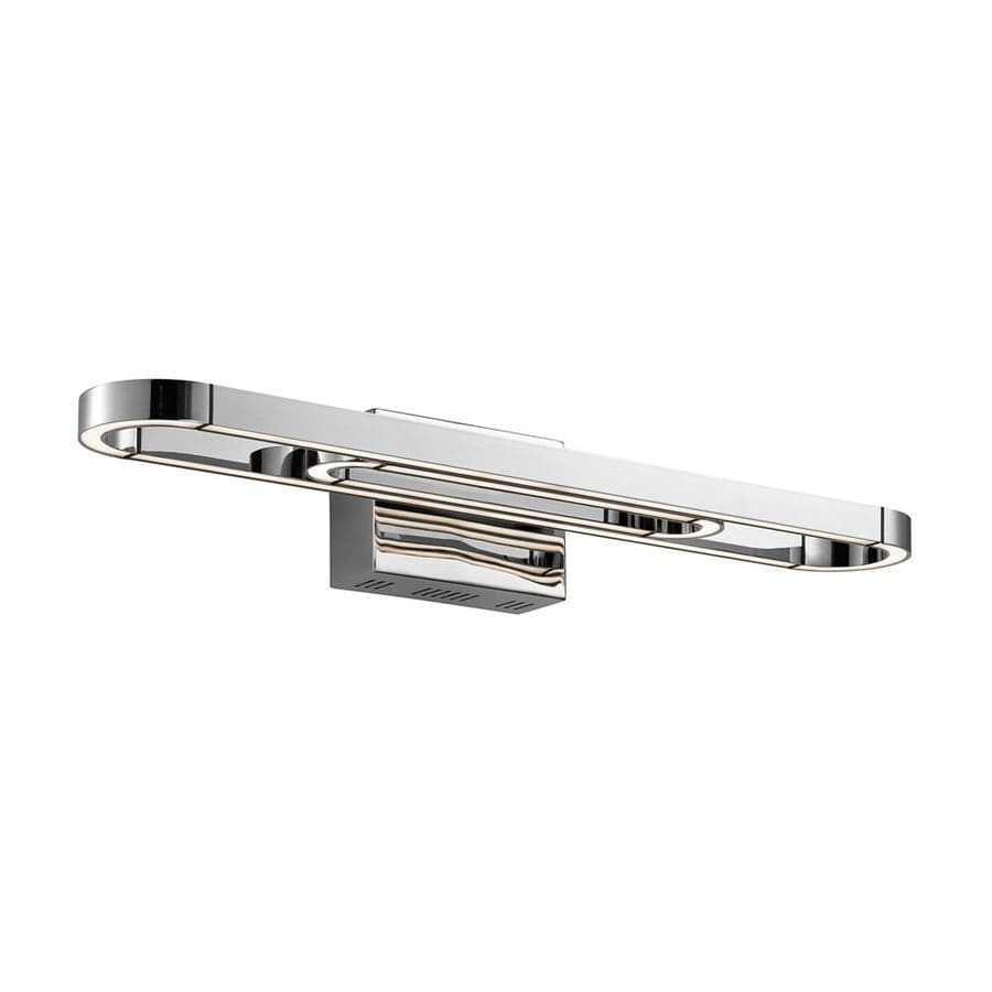 Elan Quell 1-Light 5-in Chrome Geometric Integrated LED Vanity Light Bar