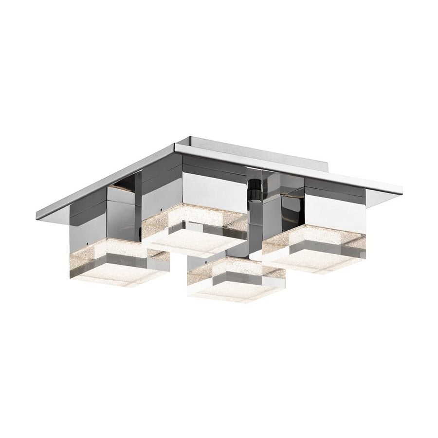 Elan Gorva 12.5-in W Chrome Integrated LED Ceiling Flush Mount Light