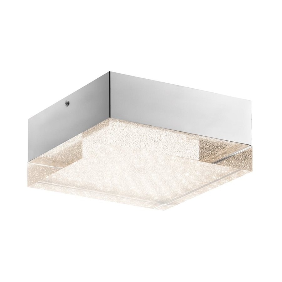 Elan Gorva 10.25-in W Chrome Integrated LED Ceiling Flush Mount Light