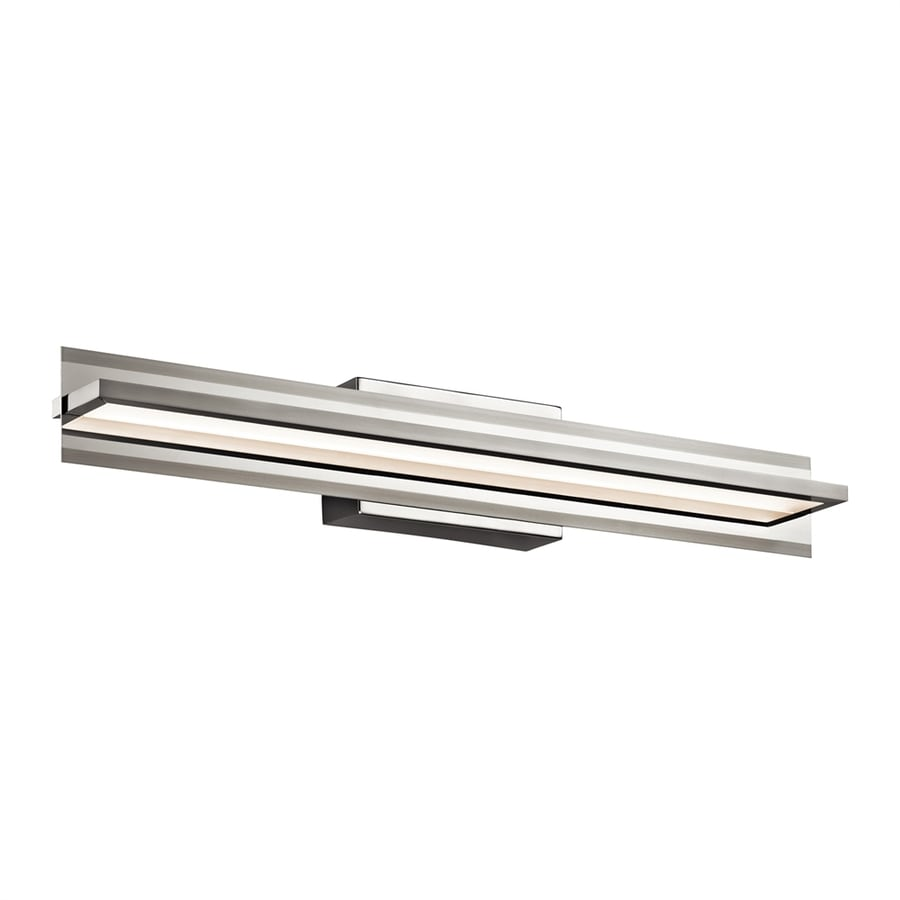 Elan Rissel 1-Light 4.5-in Satin Nickel Rectangle Integrated LED Vanity Light Bar