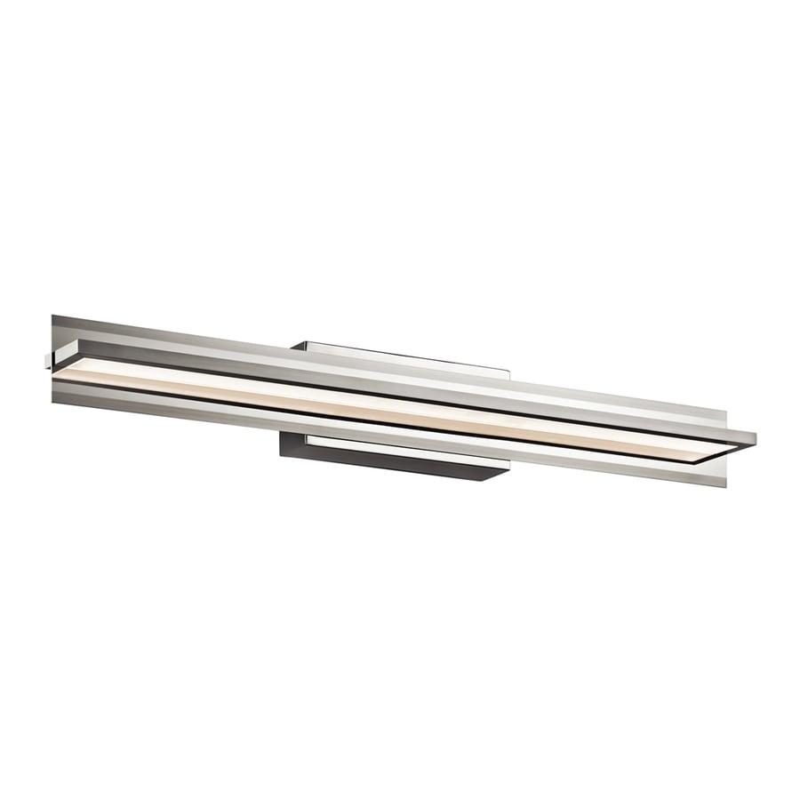 Elan Rissel 1-Light 4.5-in Satin nickel Rectangle LED Vanity Light Bar