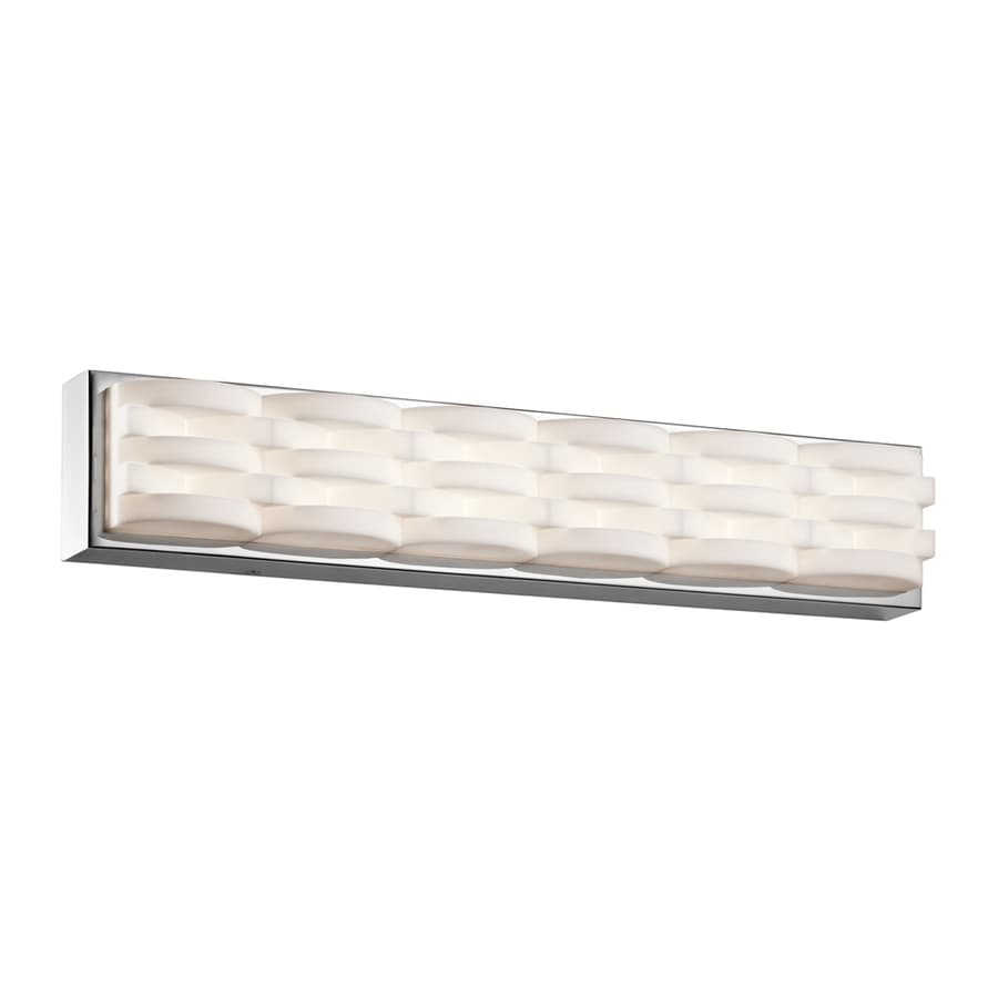 Vanity Led Light Bar : Shop Elan Minse 1-Light 4.75-in Chrome Rectangle LED Vanity Light Bar at Lowes.com