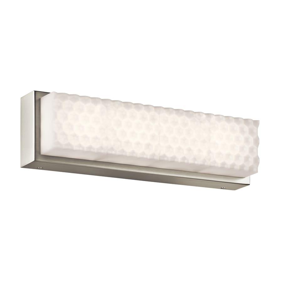 Elan Merco 1-Light 4.75-in Brushed Nickel Rectangle LED Vanity Light Bar