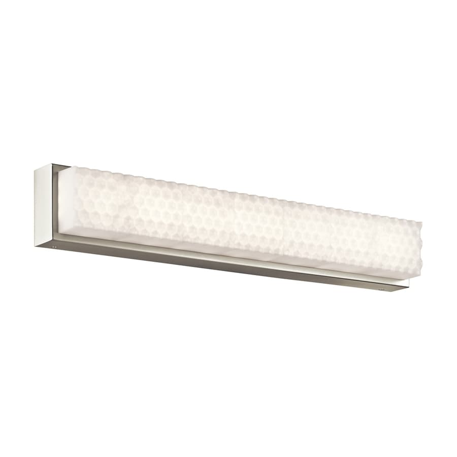 Shop Elan Merco 1-Light 4.75-in Brushed Nickel Rectangle LED Vanity Light Bar at Lowes.com