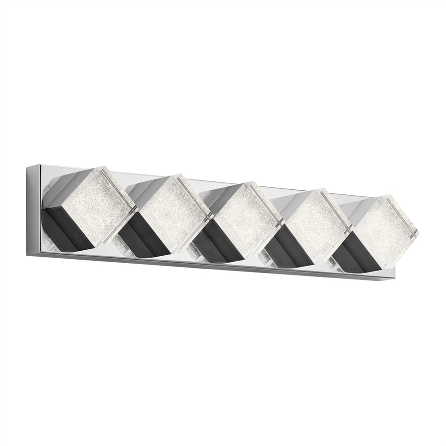 Elan Gorve 5-Light 5.5-in Chrome Geometric LED Vanity Light