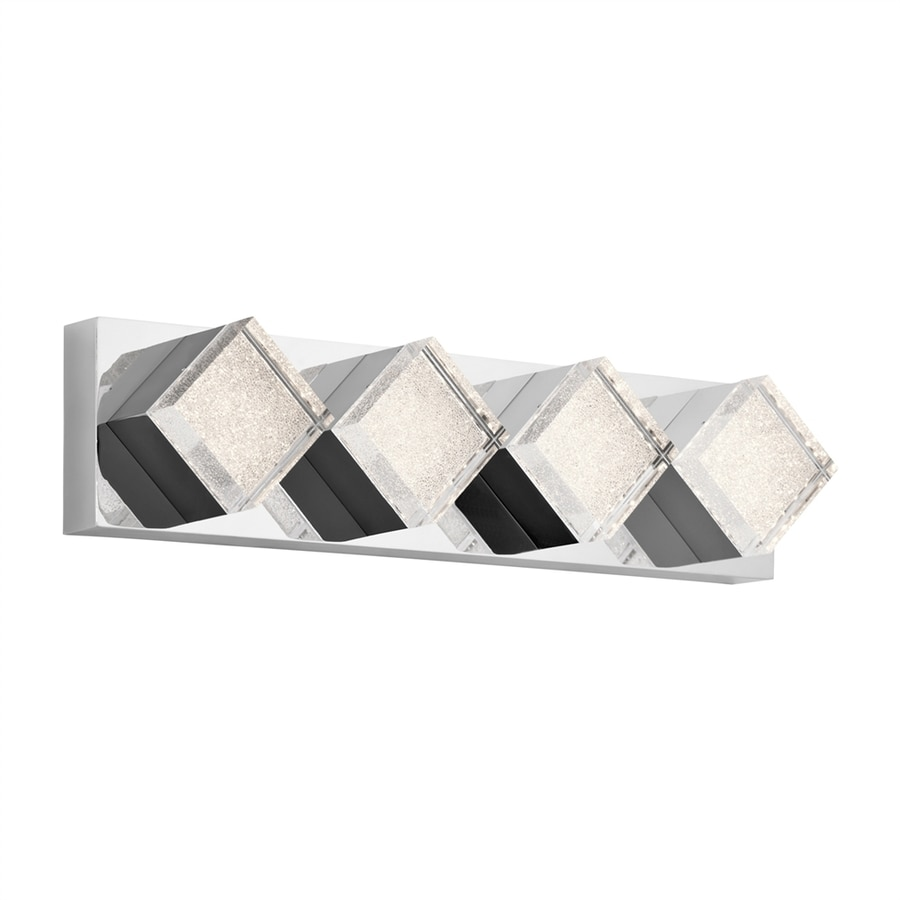 Elan Gorve 4-Light 5.5-in Chrome Geometric Integrated LED Vanity Light