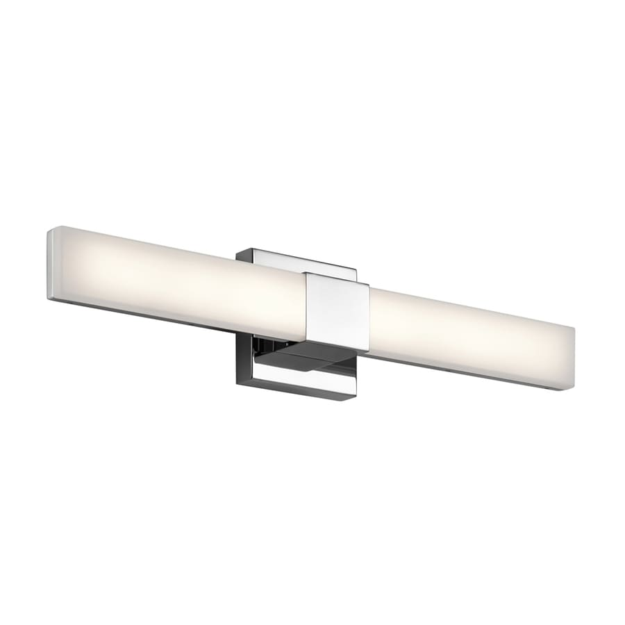 Replace Vanity Light Bar With Two Lights : Shop Elan Neltev 2-Light 5-in Chrome Rectangle LED Vanity Light Bar at Lowes.com
