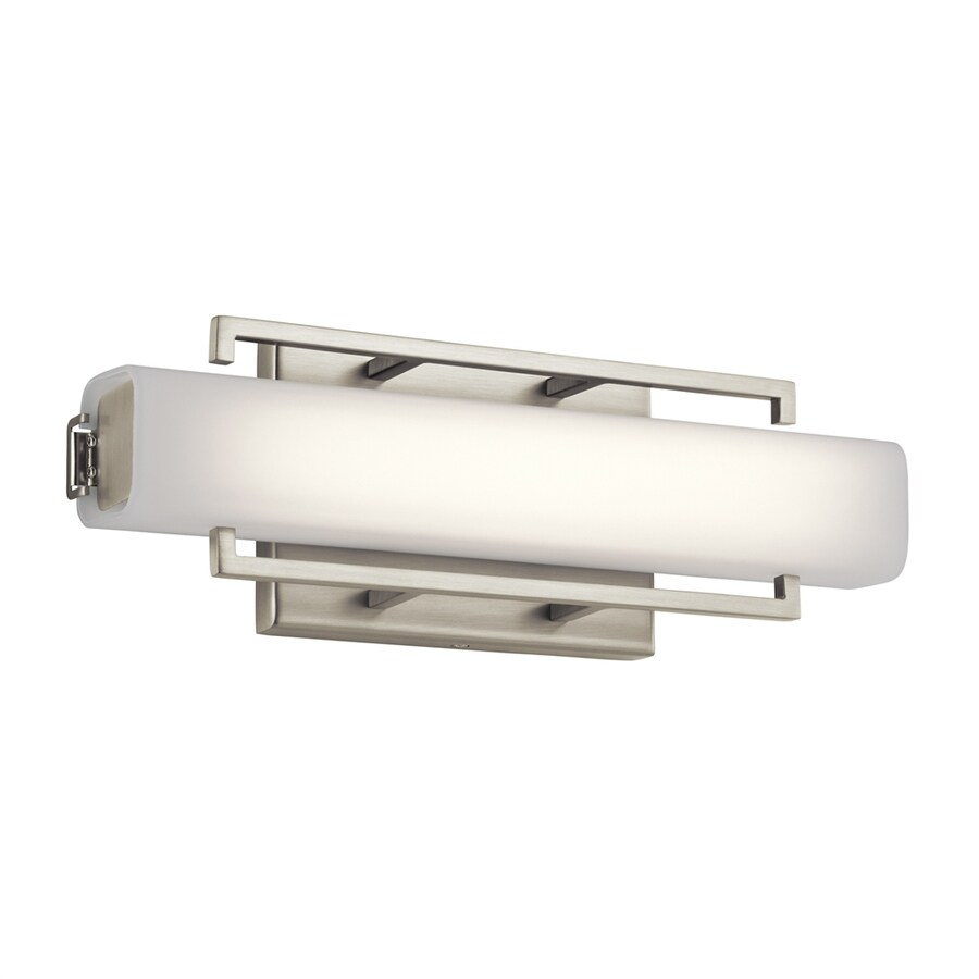Vanity Light Bar Height : Shop Elan Perov 1-Light 4.75-in Brushed Nickel Rectangle LED Vanity Light Bar at Lowes.com