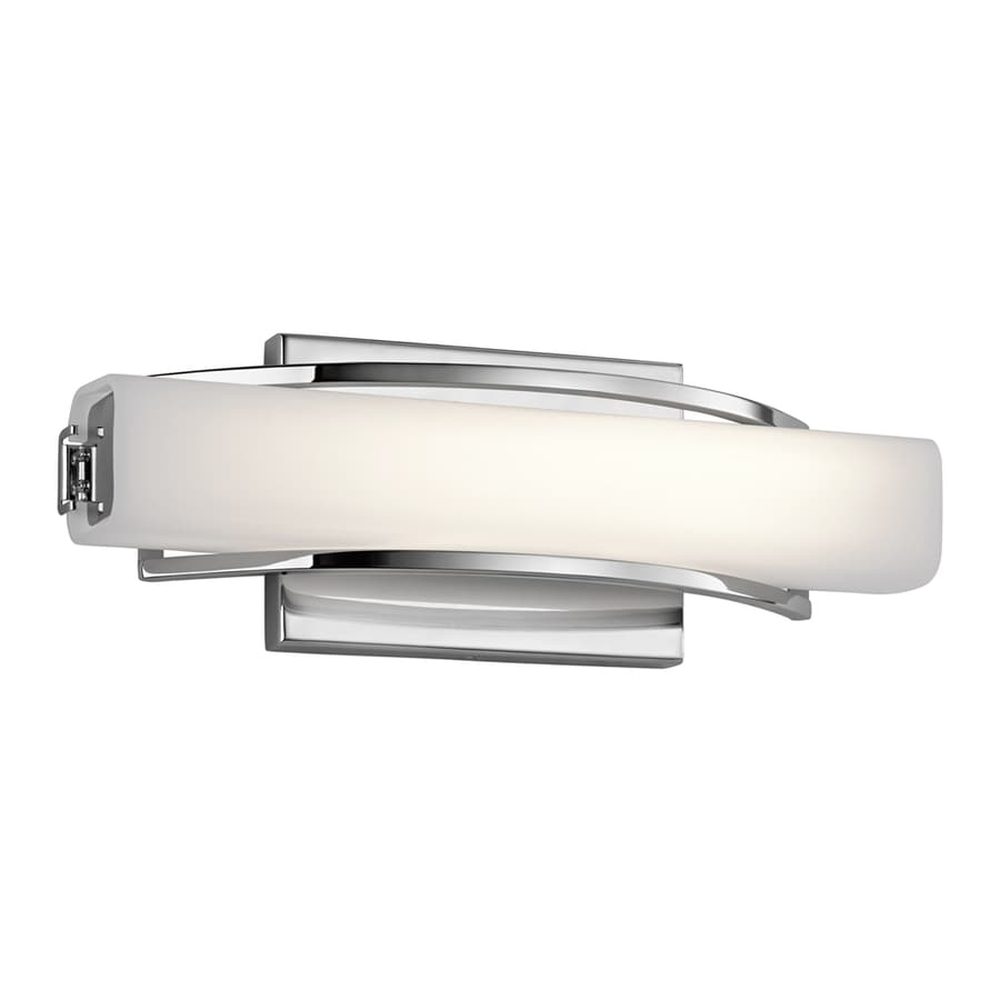 Elan Rowan 1-Light 4.75-in Chrome Rectangle LED Vanity Light Bar