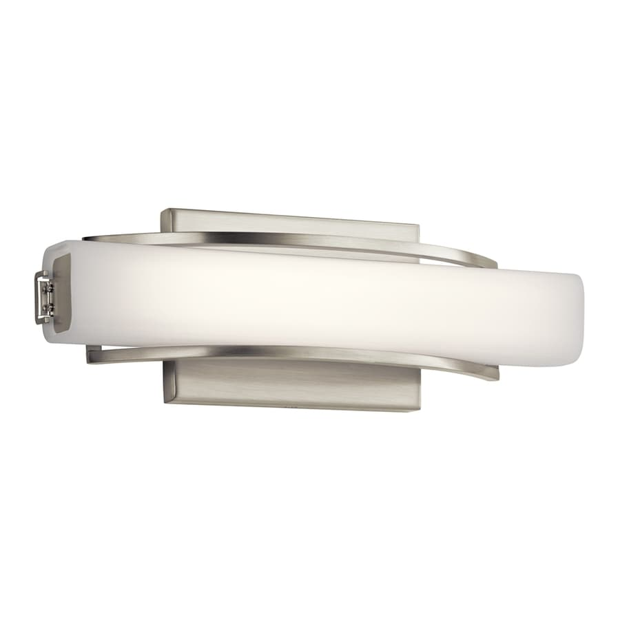 Elan Rowan 1-Light 4.75-in Brushed Nickel Rectangle LED Vanity Light Bar