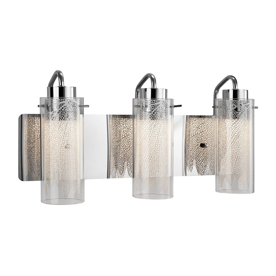 Elan Krysalis 3-Light 9.5-in Chrome Cylinder Integrated LED Vanity Light