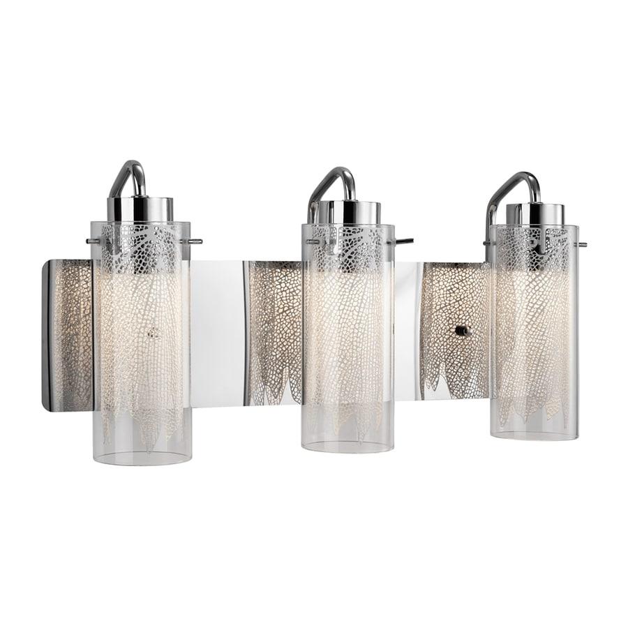 Elan Krysalis 3-Light 9.5-in Chrome Cylinder LED Vanity Light