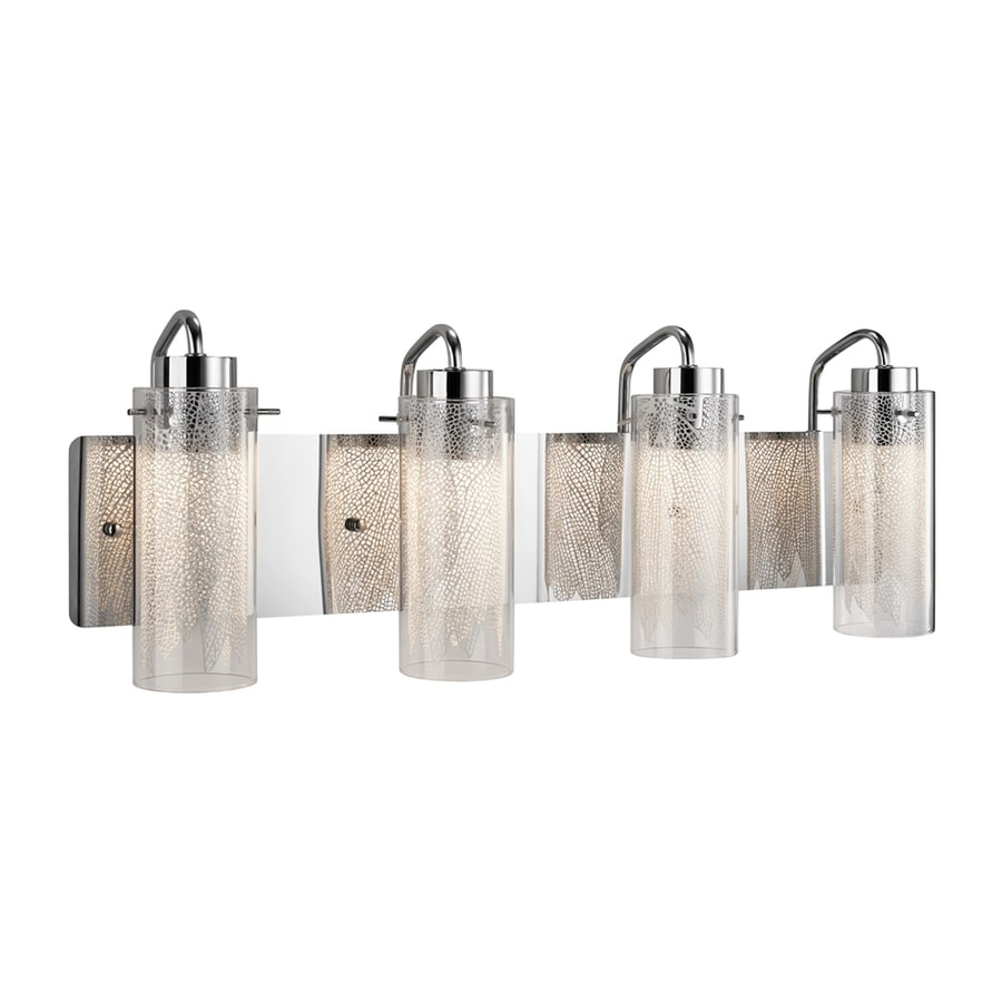 Elan Krysalis 4-Light 9.5-in Chrome Cylinder LED Vanity Light