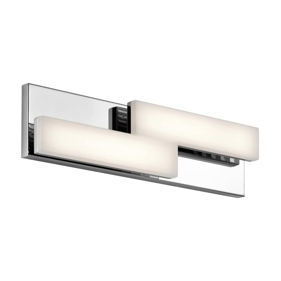 Elan Zagg 2-Light 5-in Chrome Rectangle LED Vanity Light