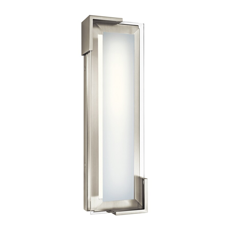 Elan Jaxen 1-Light 16.5-in Brushed nickel Rectangle LED Vanity Light Bar