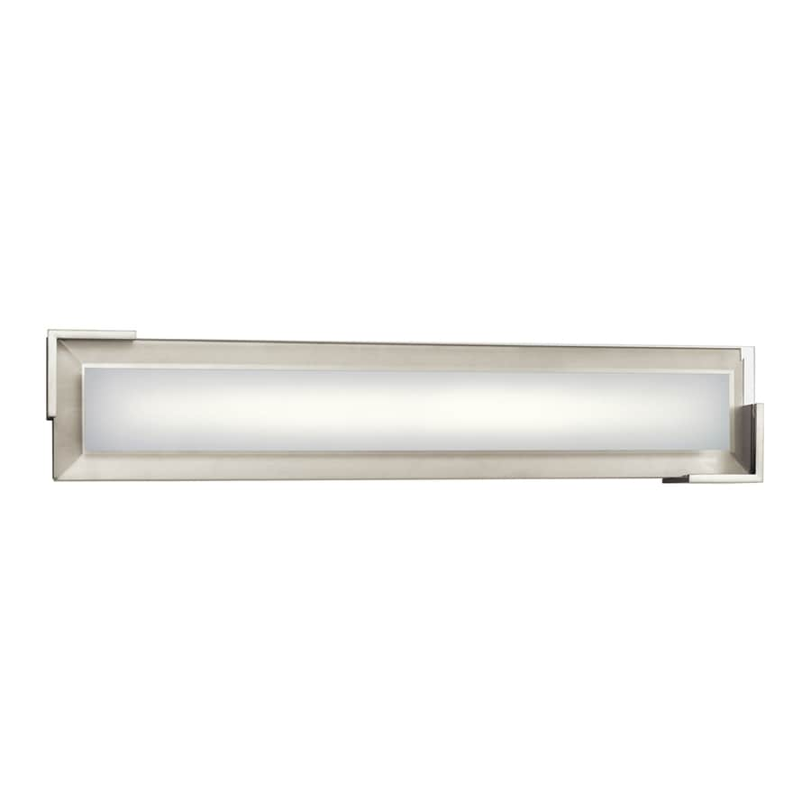 Elan Jaxen 1-Light 5.25-in Brushed Nickel Rectangle Integrated LED Vanity Light Bar