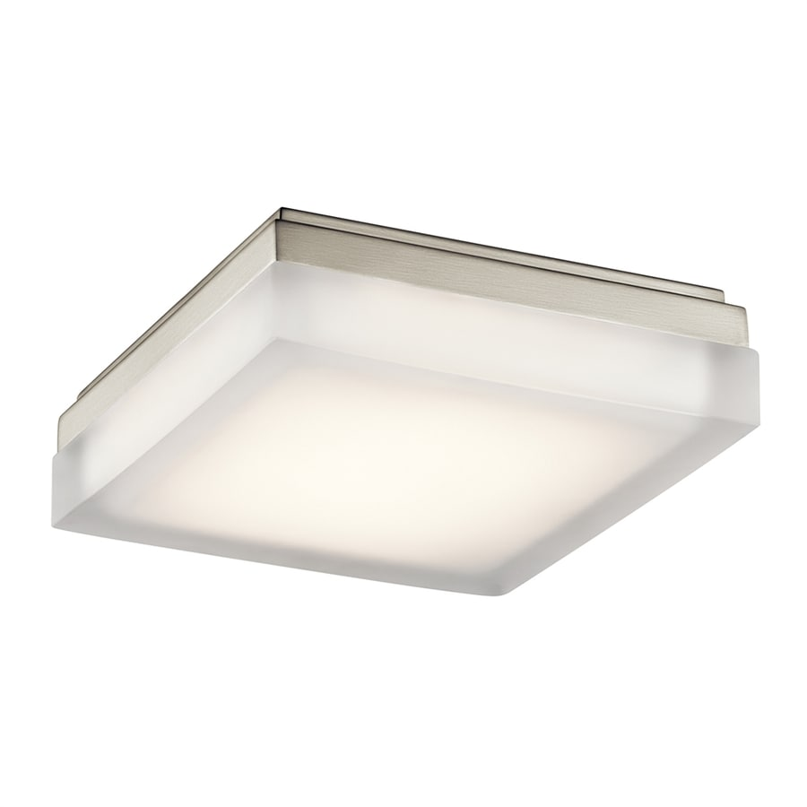 Elan Arston 9-in W Brushed nickel LED Flush Mount Light