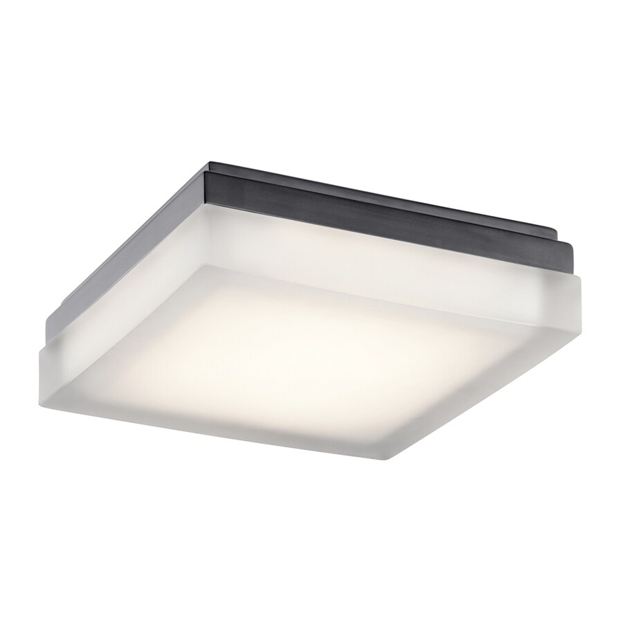 Elan Arston 9-in W Bronze Integrated LED Ceiling Flush Mount Light