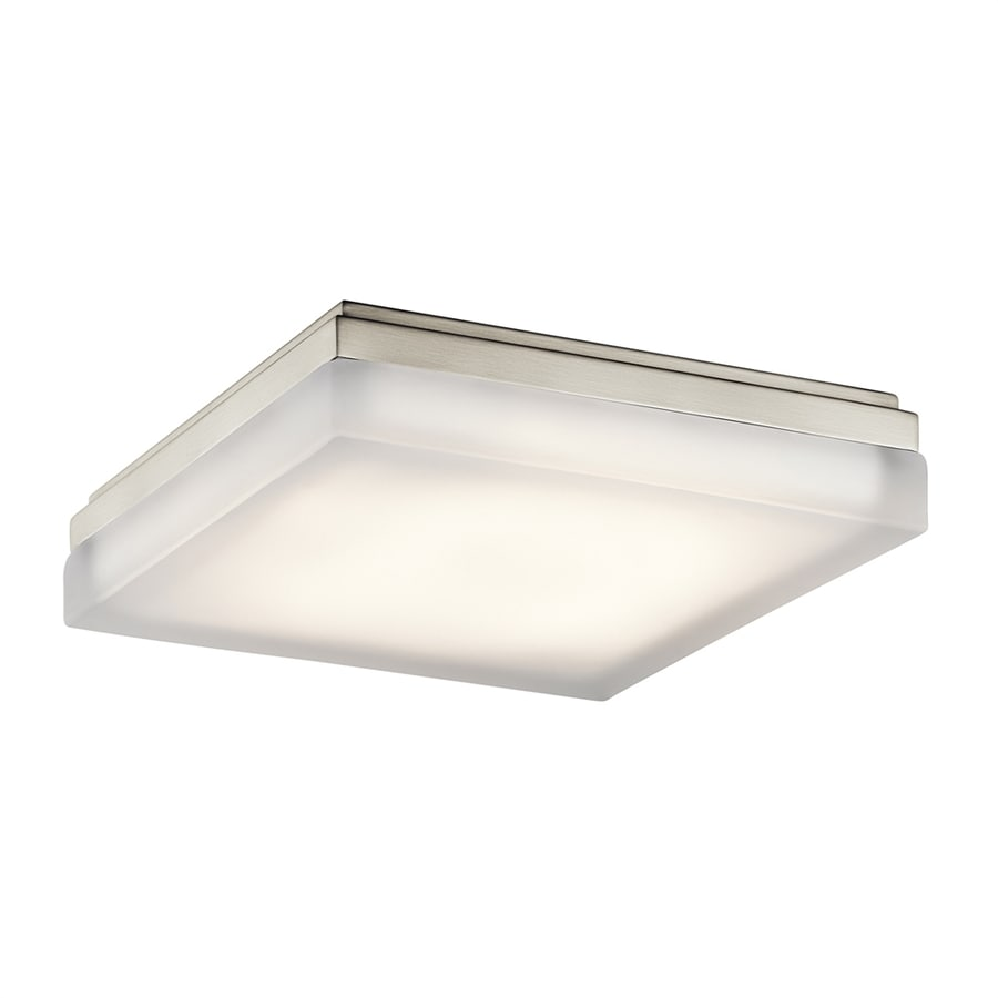 Elan Arston 12-in W Brushed Nickel Integrated LED Ceiling Flush Mount Light