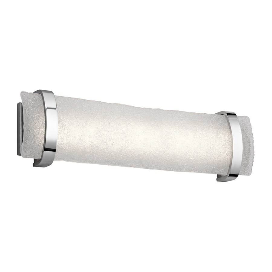 Elan Adara 1-Light 6.75-in Brushed Nickel Rectangle Integrated LED Vanity Light Bar