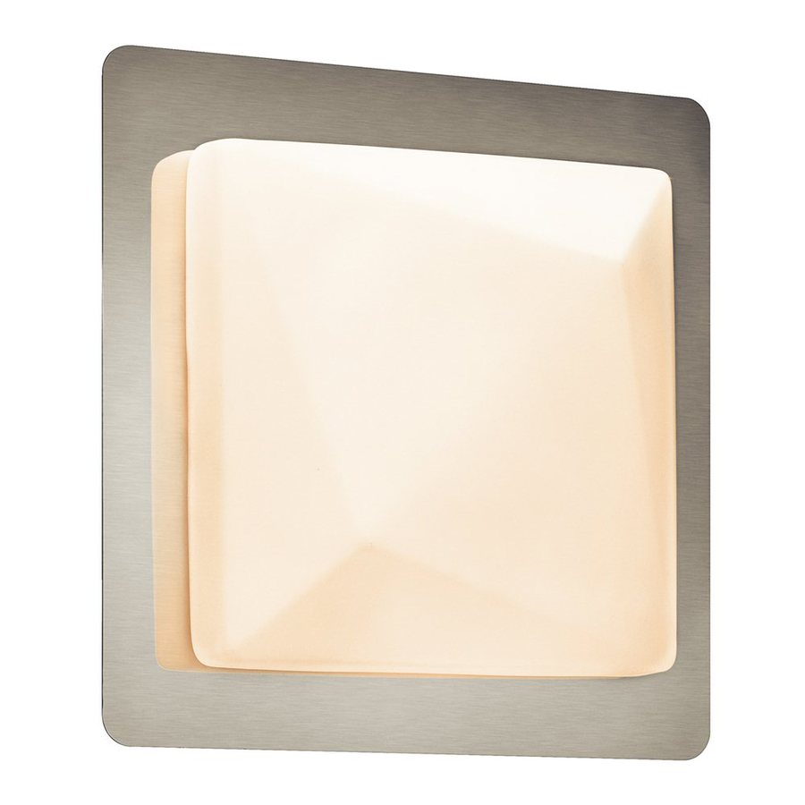 Elan Kapture 1-Light 8.75-in Chrome Square Vanity Light