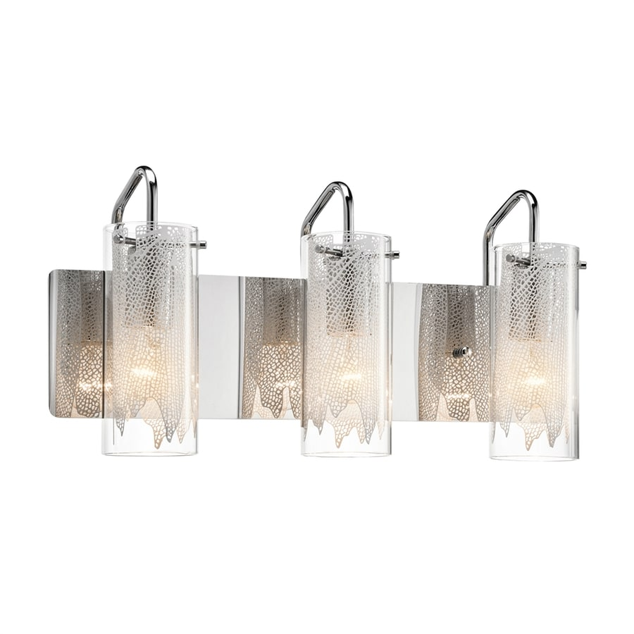Elan Krysalis 3-Light 9.5-in Chrome Cylinder Vanity Light