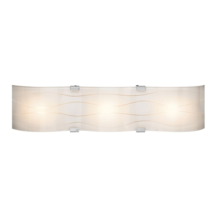 Elan Undulla 3-Light Chrome Rectangle Vanity Light Bar