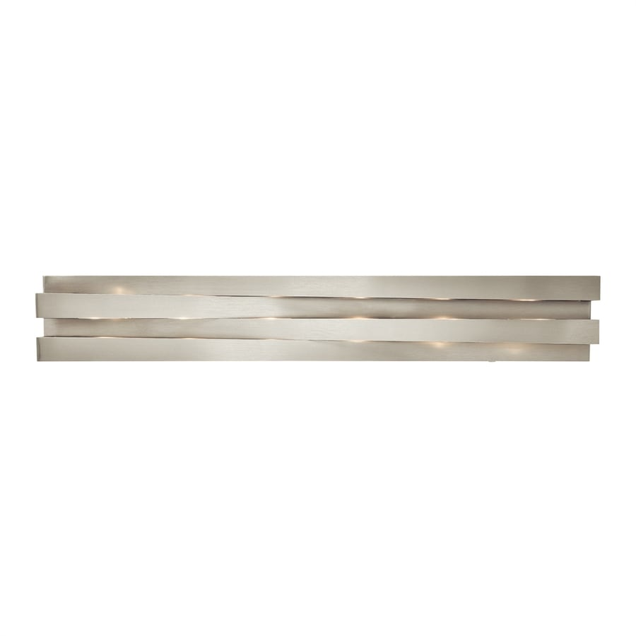 Elan Massimik 1-Light 5.5-in Nickel Rectangle Vanity Light Bar