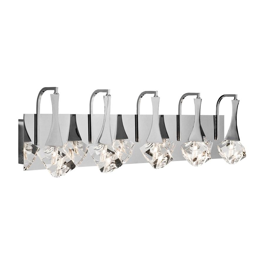 Elan Rockne 5-Light 9.25-in Chrome Teardrop Vanity Light
