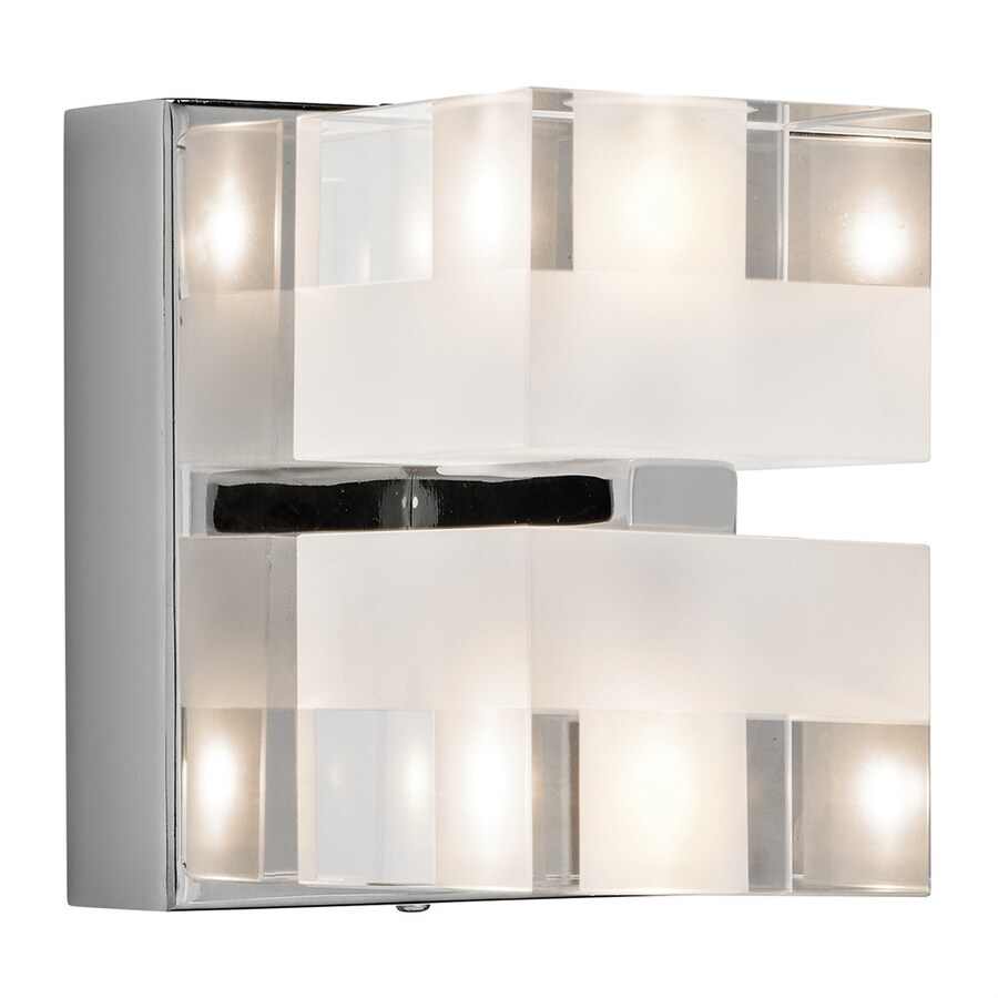 Elan Considine 4.75-in W 2-Light Chrome Directional Wall Sconce