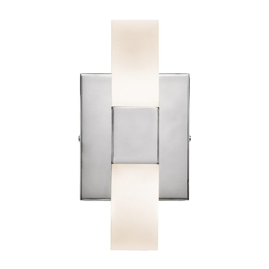 Elan Tvill 9.5-in W 2-Light Chrome Pocket LED Wall Sconce