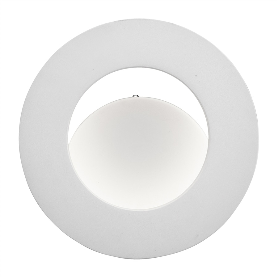 Elan Fornello 9.5-in W 1-Light White Pocket Wall Sconce