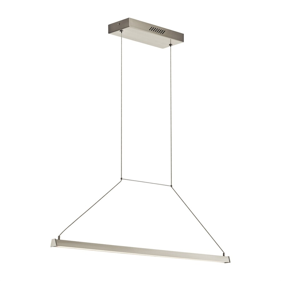 Elan Linule 4.75-in W 1-Light Brushed Nickel Integrated LED Kitchen Island Light with Clear Shade