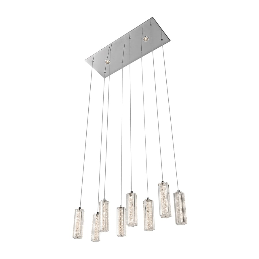 Elan Neruda 8.75-in W 10-Light Chrome Integrated LED Kitchen Island Light with Clear Shade
