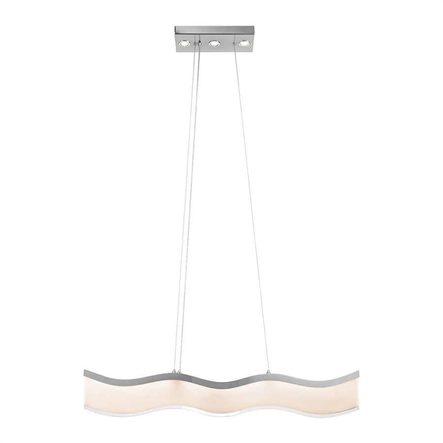 Elan Ramay 0.98-in W 4-Light Chrome Integrated LED Kitchen Island Light with Clear Shade