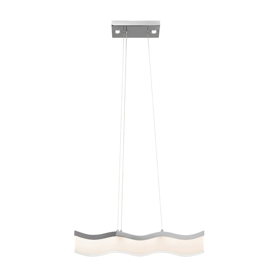 Elan Ramay 0.98-in W 3-Light Chrome Integrated LED Kitchen Island Light with Clear Shade