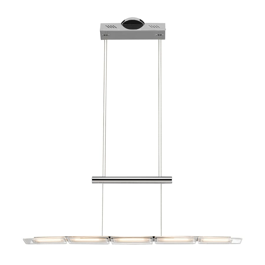 Elan Kupa 4-in W 5-Light Chrome Integrated LED Kitchen Island Light with Clear Shade