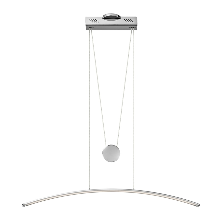 Elan Sava 4.75-in W 1-Light Chrome/Silver Integrated LED Kitchen Island Light with Shade