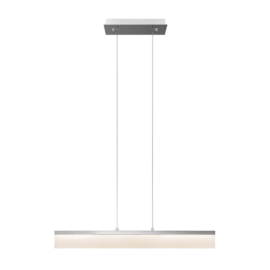 Elan Colson 4.75-in W 1-Light Chrome Integrated LED Kitchen Island Light with Frosted Shade