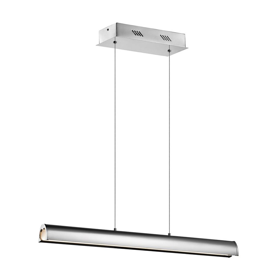 Elan Lirna 2.25-in W 1-Light Chrome Integrated LED Kitchen Island Light with Frosted Shade