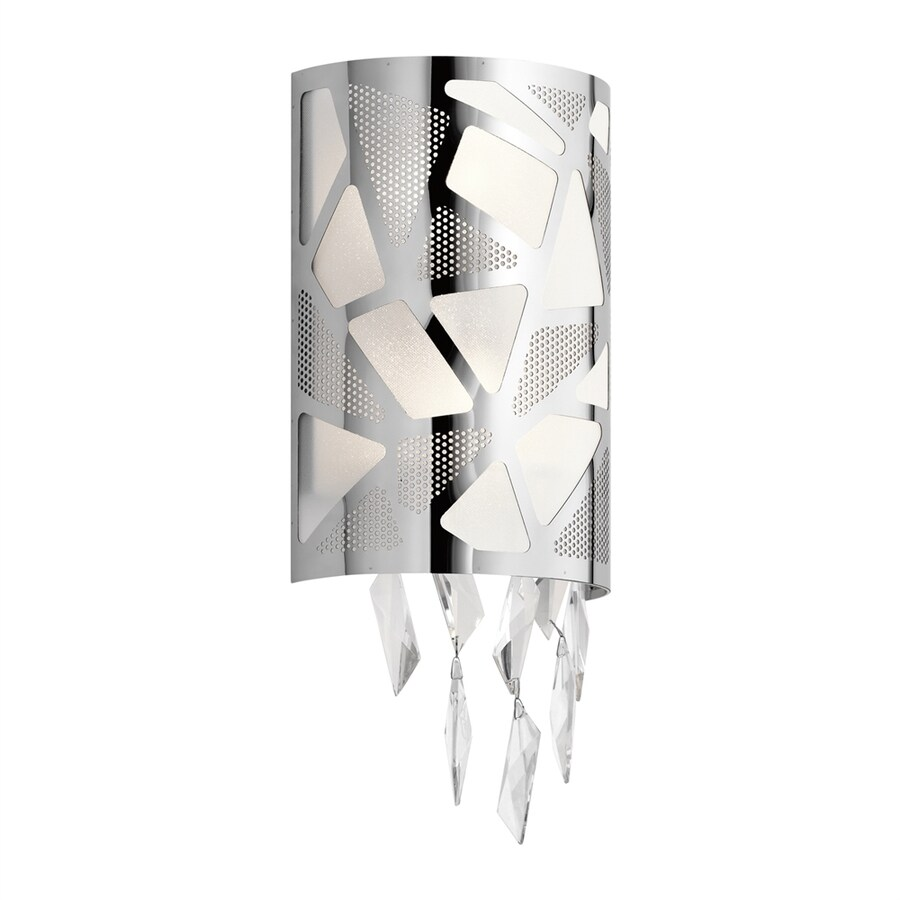 Elan Angelique 7.75-in W 1-Light Chrome Pocket Wall Sconce