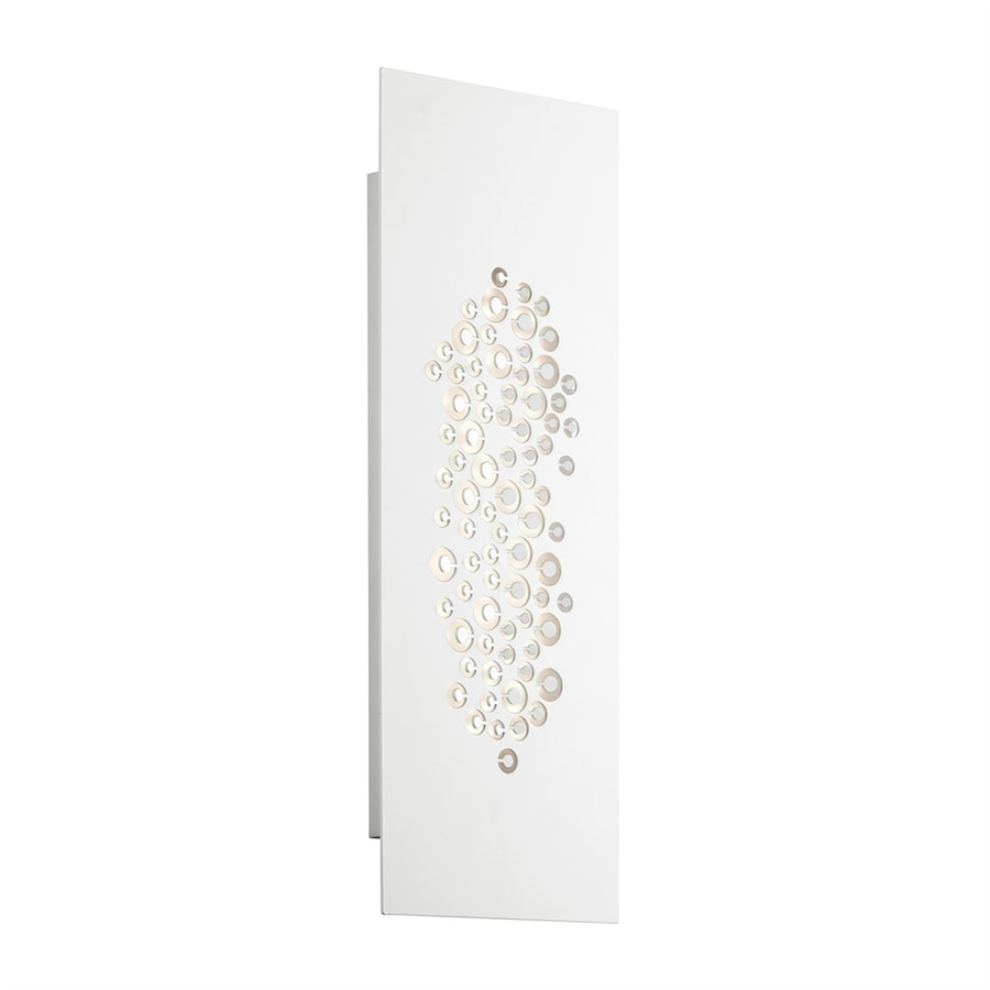 Elan Lilla 7-in W 1-Light White Wall Wash LED Wall Sconce